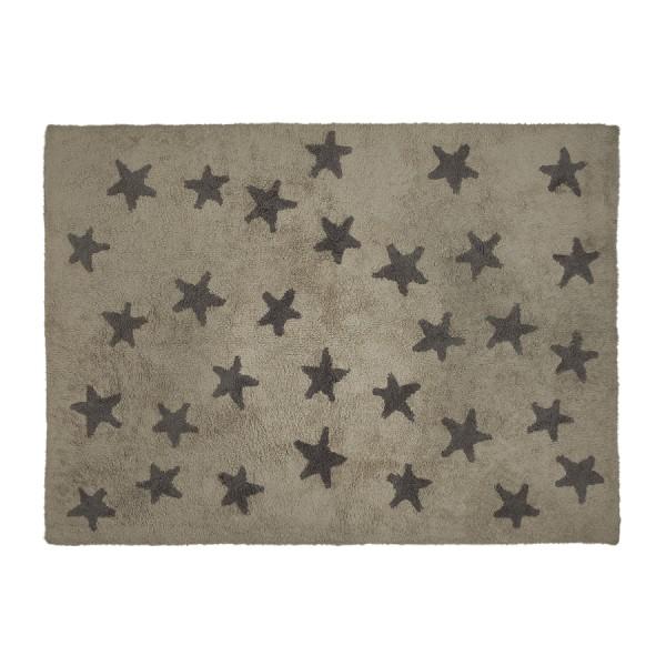 waschbarer teppich sterne grau 120 x 160 cm von lorena canals neuheiten kindergold. Black Bedroom Furniture Sets. Home Design Ideas